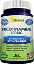 Nicotinamide with Resveratrol - 120 Veggie Capsules - Vitamin B3 500mg (Niacinamide Flush Free) - Supplement Pills to Supp...