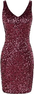 Best burgundy glitter dress Reviews