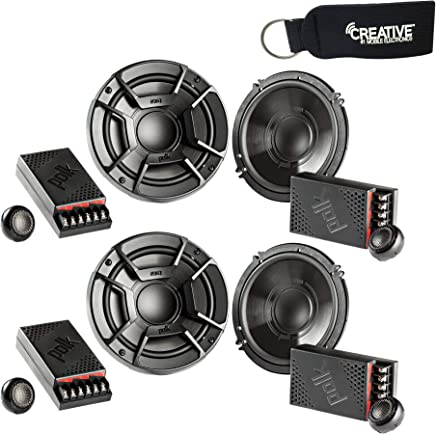 """$266 Get Polk Audio - Two Pairs of DB6502 6.5"""" Component Speaker - Marine and Powersports Certification"""