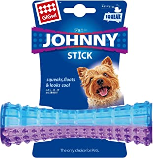 Gigwi Johnny Stick Dog Chewing Toy, Purple-Blue, Small