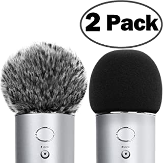 ChromLives Microphone Cover for Blue Yeti Furry...