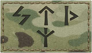 IR Multicam Russian Spetsnaz Norse Runes 2x3.5 FSB Alpha Group Russia Special Forces IFF Infrared Tactical Morale Touch Fastener Patch