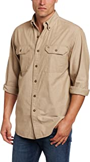 Men's Fort Lightweight Chambray Button Front Relaxed Fit LS Shirt S202