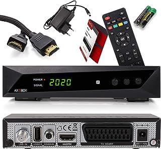 Opticum SBOX Receptor Satélite HD y Reproductor Multimedia - Descodificador Satélite HD 1080p para TV DVB-S/S2 - Astra y Hotbird Preinstalados + Cable HDMI Anadol
