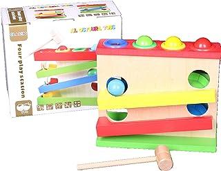 لعبة محطة اللعب الاربع الخشبية من الستورة التعليمية