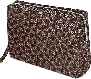 Checkered Makeup Bag Organizer, Tufusiur Large Make Up Bags for Women for Cosmetics Makeup Toiletry Travel Bags