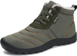 Women's Snow Boots Winter Warm Fur Lined Ankle Booties Lightweight Waterproof Non Slip Outdoor Shoes