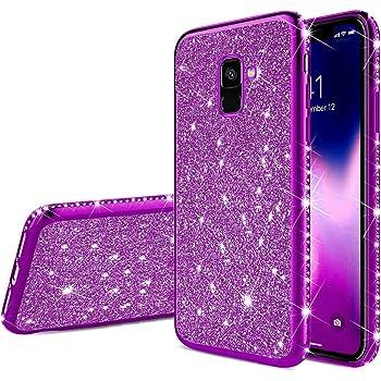 YSIMEE Compatibile Cover Samsung Galaxy S7,Custodie Gel Trasparente Brillantini Glitter Case con Scintillio Diamante Rinforzato Placcatura TPU Silicone Morbida Ultra Sottile Antiurto,Argento
