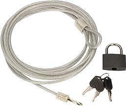 KOTARBAU® Hangslot 30 mm met stalen kabel 4 mm x 3 m sleutelslot diefstalbeveiliging voor fietsen.