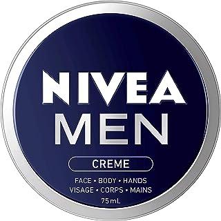 NIVEA Men Crème For Face, Body and Hands (75mL), NIVEA Moisturizer for All Skin Types, Face Cream, Hand Cream, Carefully C...