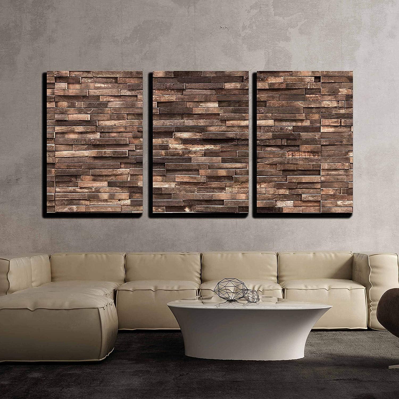 wall26 New item - 3 Piece Canvas Wall Decorative High material Art Wooden Backgr