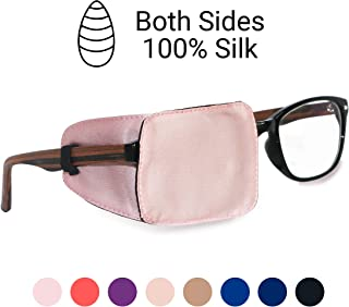 Astropic Silk Eye Patch for Adults Kids Eye Patch for Glasses Medical Patch for Lazy Eye Amblyopia Strabismus and After Surgery (English Rose Pink)