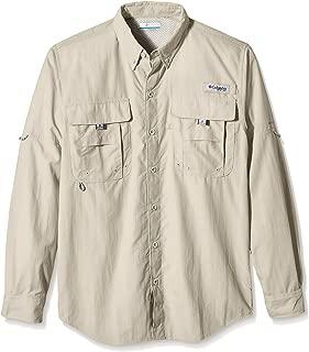 Columbia Outdoor Standard PFG Bahama II Long Sleeve Shirt, Fossil, Medium