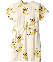 mini rodini - Banana All Over Print Dress (Infant/Toddler/Little Kids/Big Kids)