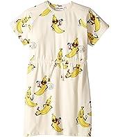 mini rodini - Banana All Over Print Dress (Infant/Toddler/Little Kids/Big Kids)