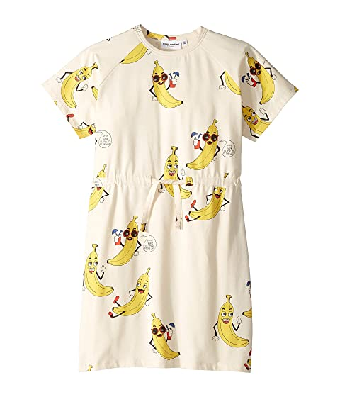 mini rodini Banana All Over Print Dress (Infant/Toddler/Little Kids/Big Kids)