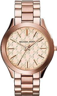 Michael Kors MK3336 Womens Slim Runway Rose Gold-Tone Stainless Steel Watch