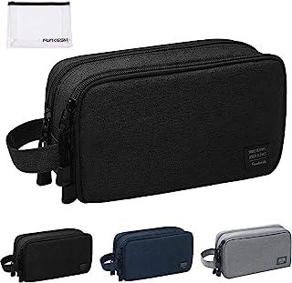 حقيبة أدوات الزينة للرجال مضادة للماء حقيبة سفر أدوات الحلاقة هدية مثالية أكسسوارات السفر, , أسود - P003