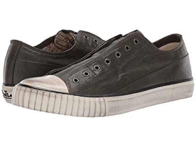 John Varvatos Laceless Low Top (Army Green) Men