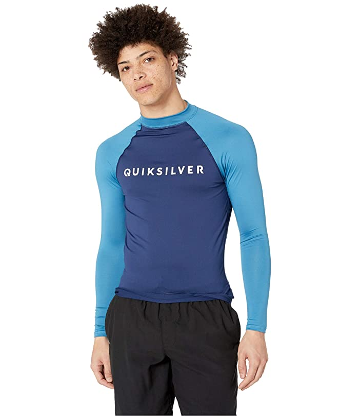 Quiksilver Always There Long Sleeve Rashguard (Medieval Blue) Men