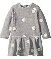 Chloe Kids - Fleece Dress with Embroidered Flowers (Toddler)