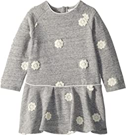Fleece Dress with Embroidered Flowers (Toddler)