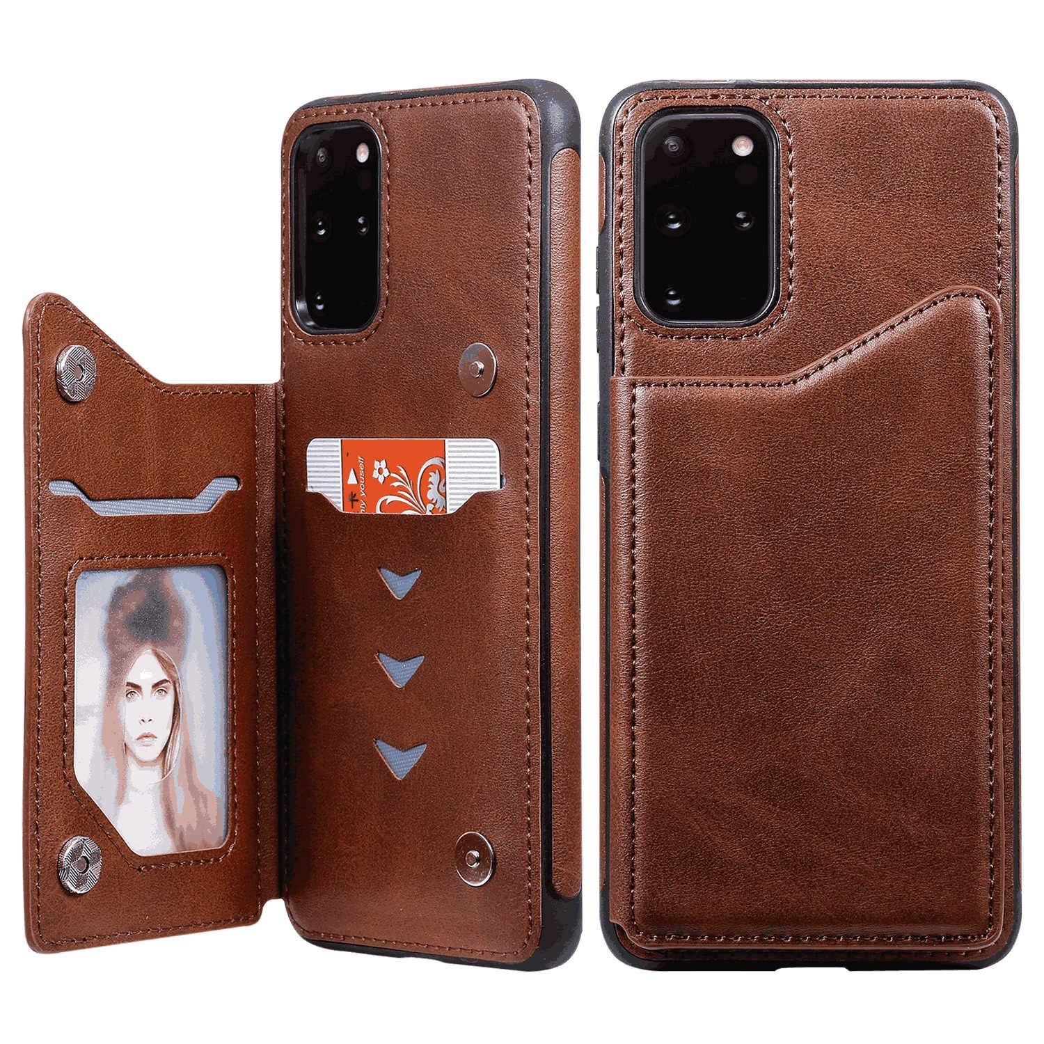 Black Leather Flip Case Wallet for Samsung Galaxy S9 Stylish Cover Compatible with Samsung Galaxy S9