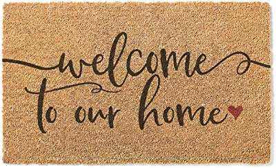 Kindred Hearts 18x30 Coir Doormat Welcome to Our Home, Multicolor