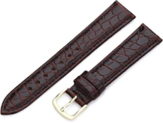 Hadley-Roma 18mm `Men`s` Leather Watch Strap, Color:Brown (Model: MSM717RB 180)