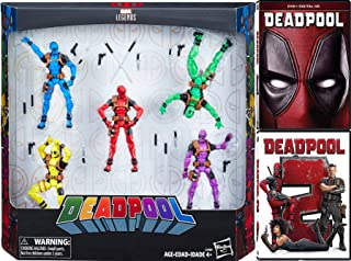 Foul Mouthed Marvel Deadpool Super Hero Pack Deadpool with Gag Reel (DVD) + Movie Part 2 Double Feature & Rainbow 5-Pack Legends Figures Comic Book Mega Blast