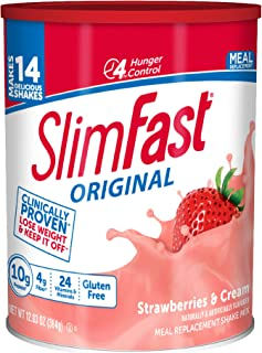 slim fast strawberry milkshake powder