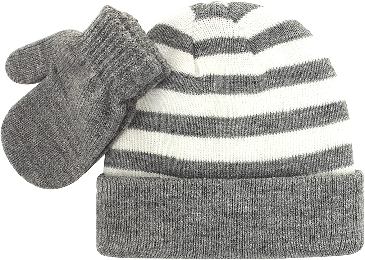 LAPI.ZAPI Toddler Hat and Gloves Set Girl Boys, Baby Winter Hats and Mittens for kids Warm Knitted Beanie