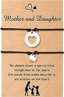 مجموعة أساور الأم ابنة العودة إلى المدرسة هدايا أمي وأمي تقطع القلب مطابقة أتمنى سوار ل 2/3 مجوهرات للأم والابنة
