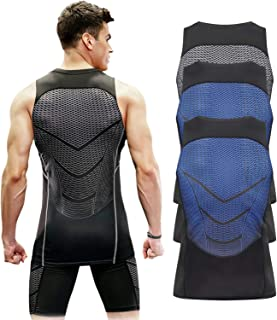 Speverdr Men's Sleeveless Compression Tank Tops Quick-Dry Muscle Base Layer T-Shirt
