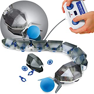 Discovery #MINDBLOWN DIY Robotic Soccer Snake Kit, Build-it-Yourself Robot Toy, Remote-Controlled Snake, Includes Ball and Ball Pusher to Make a Goal, for Kids Boys and Girls Age 8+