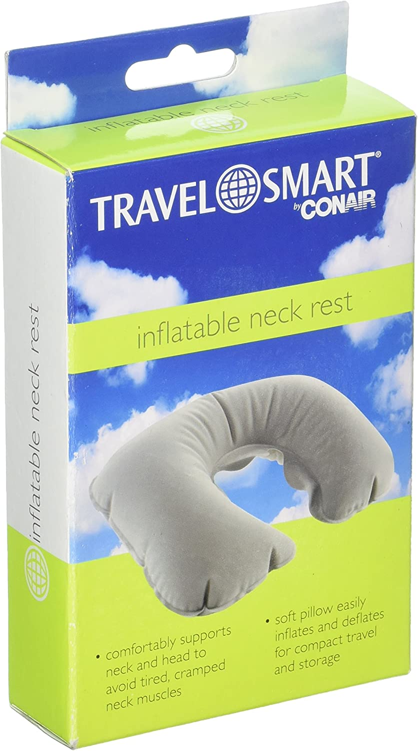 Travel Smart Spasm price by Conair Inflatable Neck Grey Rest Popularity