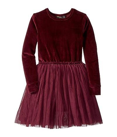 Rock Your Baby Velvet Long Sleeve Circus Dress (Toddler/Little Kids/Big Kids) (Plum) Girl