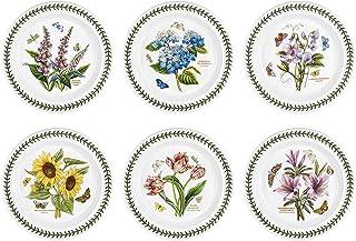 Portmeirion Botanic Garden Set of 6 Dinner Plates (Assorted Motifs)