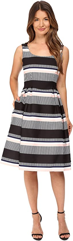 Bay Stripe Fit and Flare Dress