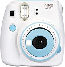 Nishow Replacement for Fujifilm instax Mini 9 Instant Film Camera for Ideal Gift Set - White Blue