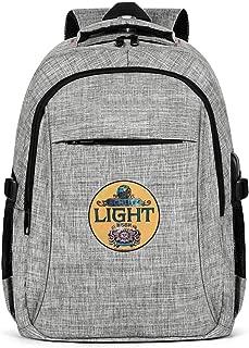 Wudo Schlitz Beer Vintage Backpack for Women,Man Drawstring Backpack