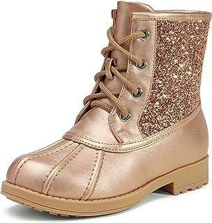 DREAM PAIRS Girls Side Zipper Glitter Ankle Boots(Toddler/Little Kid/Big Kid)