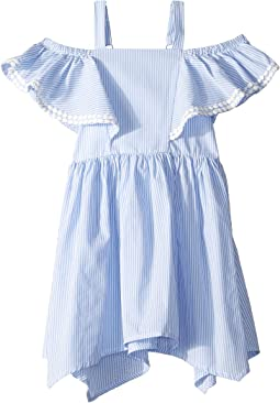 Yarn-Dye Stripe Off the Shoulder Dress (Toddler/Little Kids)