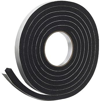 """Frost King R734H Sponge Rubber Foam Tape 3/4"""" W X 7/16"""" H X 10' L, Black"""