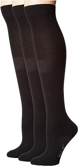 HUE Flat Knit Knee Socks 3-Pack