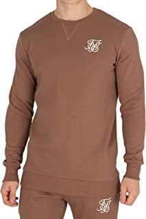Sik Silk Men's Logo Sweatshirt, Brown