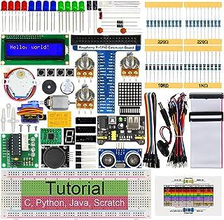Freenove Ultrasonic Starter Kit for Raspberry Pi 4 B 3 B+ 400, 487-Page Detailed Tutorials, Python C Java Scratch Code, 17...