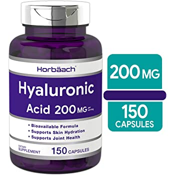 Hyaluronic Acid Capsules 200 mg 150 Count | Supports Joint and Skin Hydration | Non-GMO & Gluten Free Supplement | by Horbaach