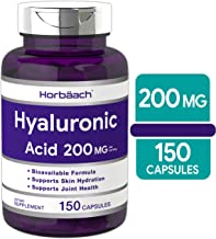 Hyaluronic Acid Capsules 200 mg 150 Count   Supports Joint and Skin Hydration   Non-GMO & Gluten Free Supplement   by Horbaach