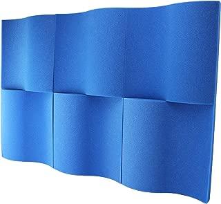 Foamily 6 Pack - Blue Decorative Acoustic Panels Studio Foam Waves 2